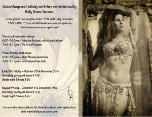 Sadie Workshops Hosted By Belly Dance Tucson®