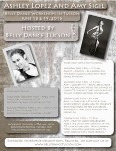 Ashley Lopez & Amy Sigil Workshop Flier