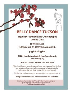 belly dance tucson combo class flyer copy